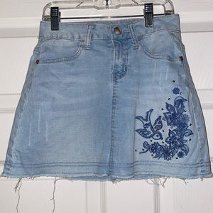 Justice Adorable Blue Jean Skirt -Attached Shorts
